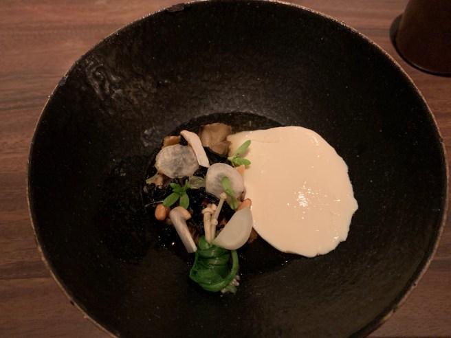 Housemade Tofu, North Coast mushrooms, pinenut and turnip