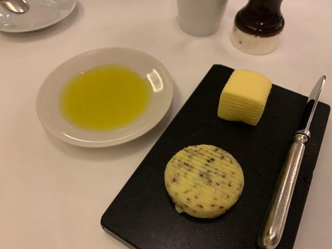 butter, oil