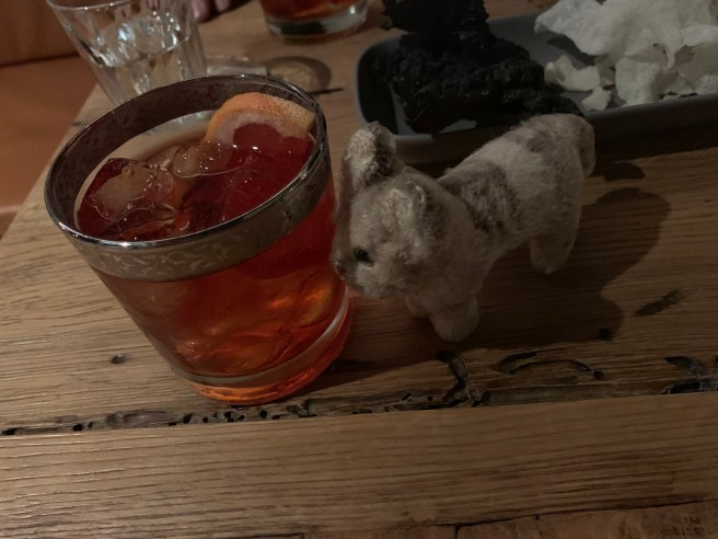 Frnakie and a negroni