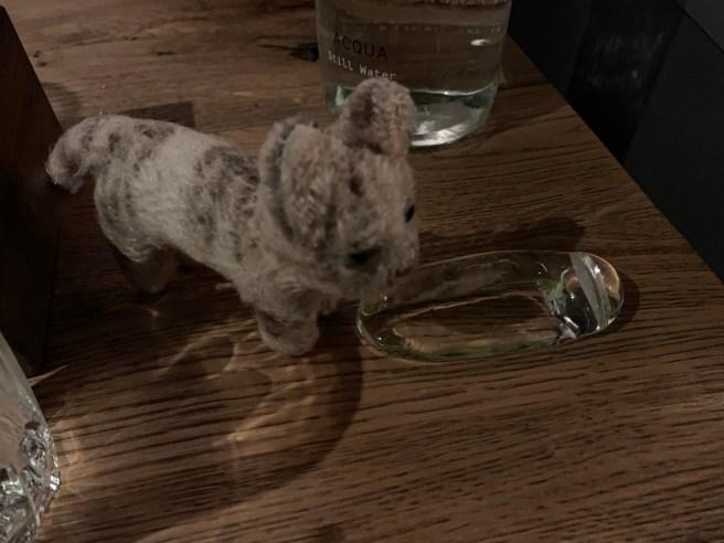 Frankie studied the flatware rest
