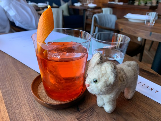 Frankie and a negroni
