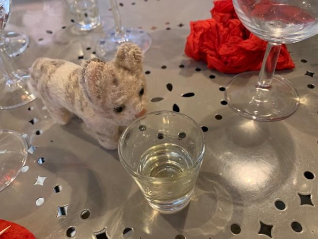 Frankie enjoyed an after dinner drink
