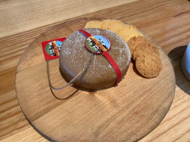 Jasper Hill Farm Cheesecake, hazelnut, white chocolate, cookie