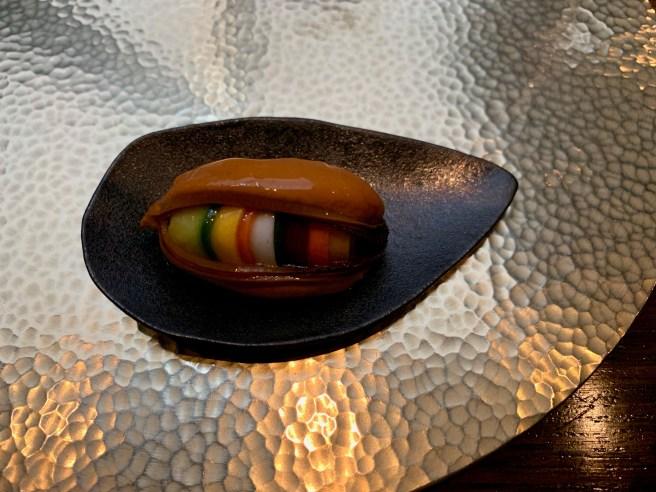 Mussel, glass noodle, fine vegetables