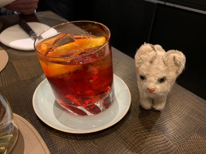 Frankie enjoyed a negroni