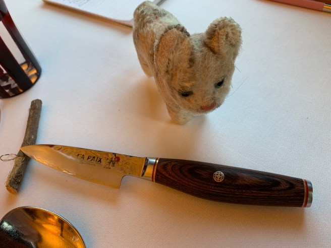 Frankie was fascinated with the named knives
