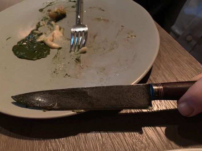 blade on knife