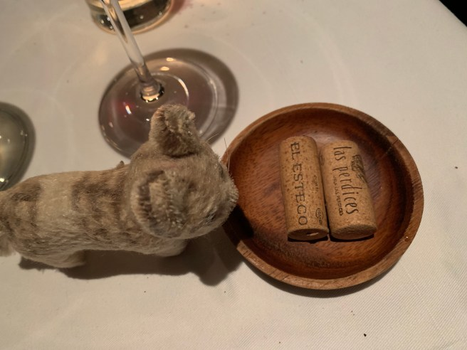 Frankie played with the corks