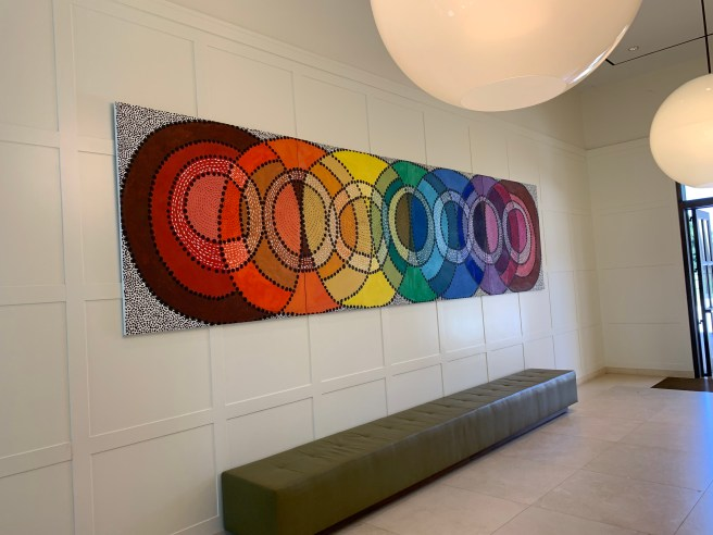 art in the reception area