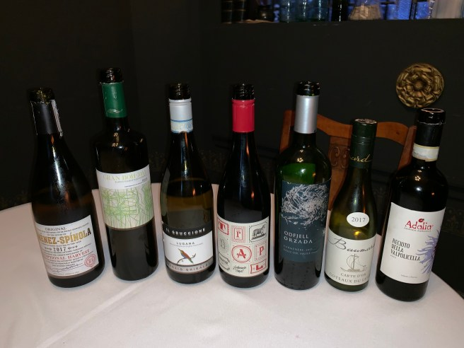 wines of the evening