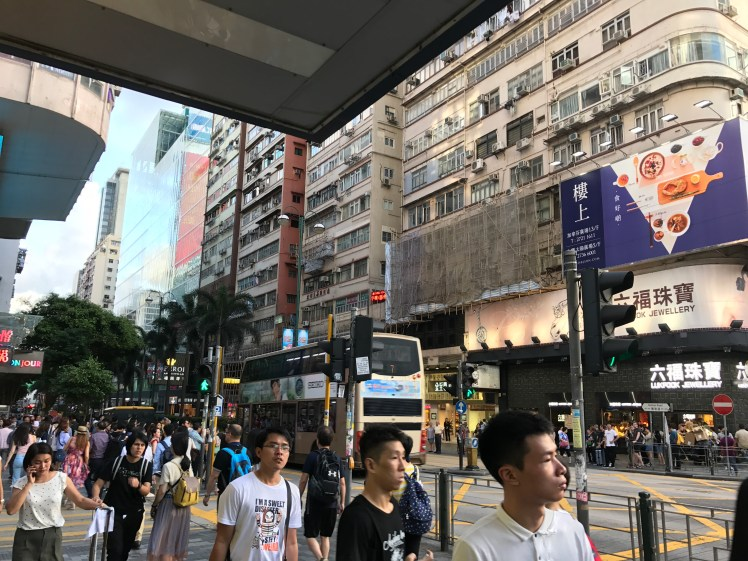 Nathan Road surroundings day time