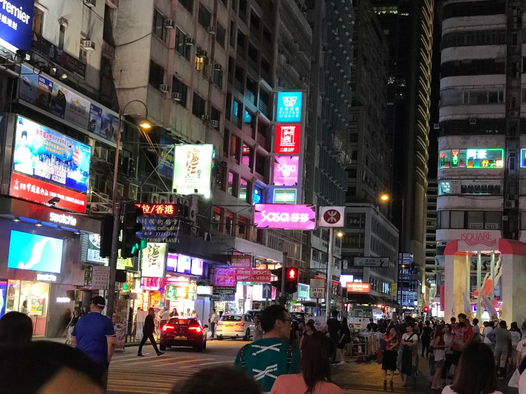First evening in Kowloon