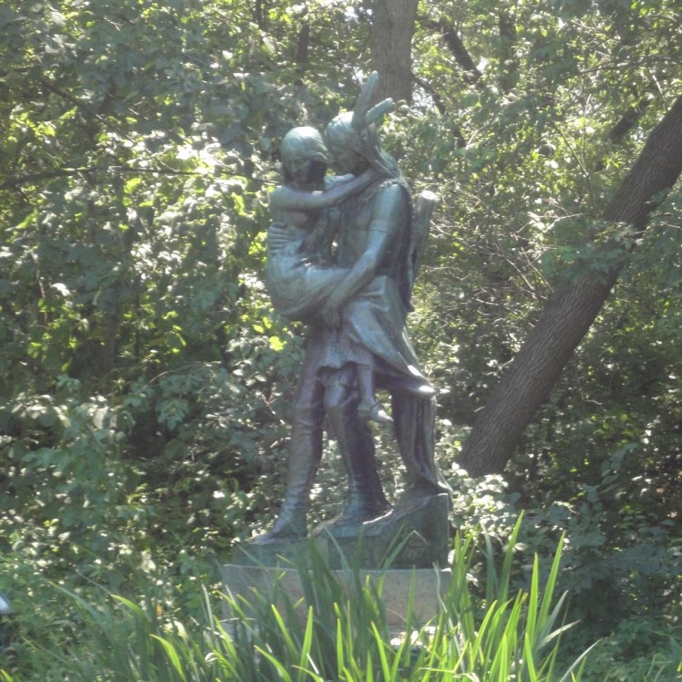 Hiawatha and Minnehaha sculpture at Minnehaha Park, Minneapolis