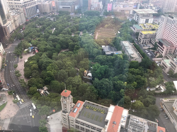 Shanghai Raceclub Building seen from above