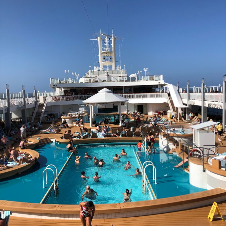 swimming pool on cruise