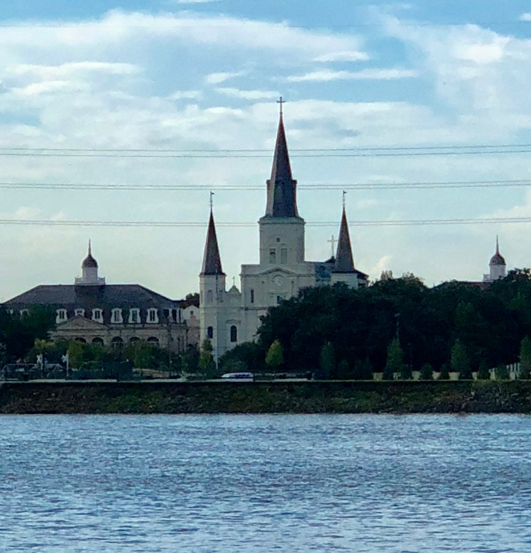 New Orleans seen from The Mississippi