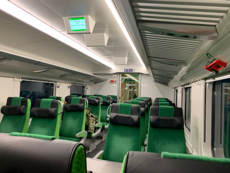 Empty train from Tampere to Turku in Christmas Eve