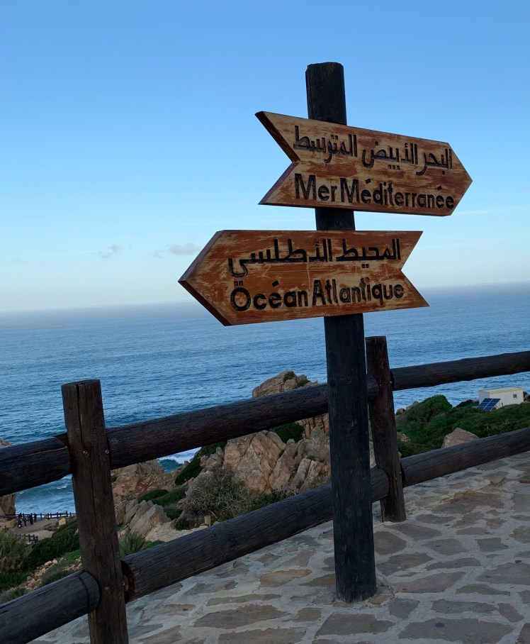 Cap Spartel in Tangier is where you can see the Mediterranean and the Atlantic Ocean meet