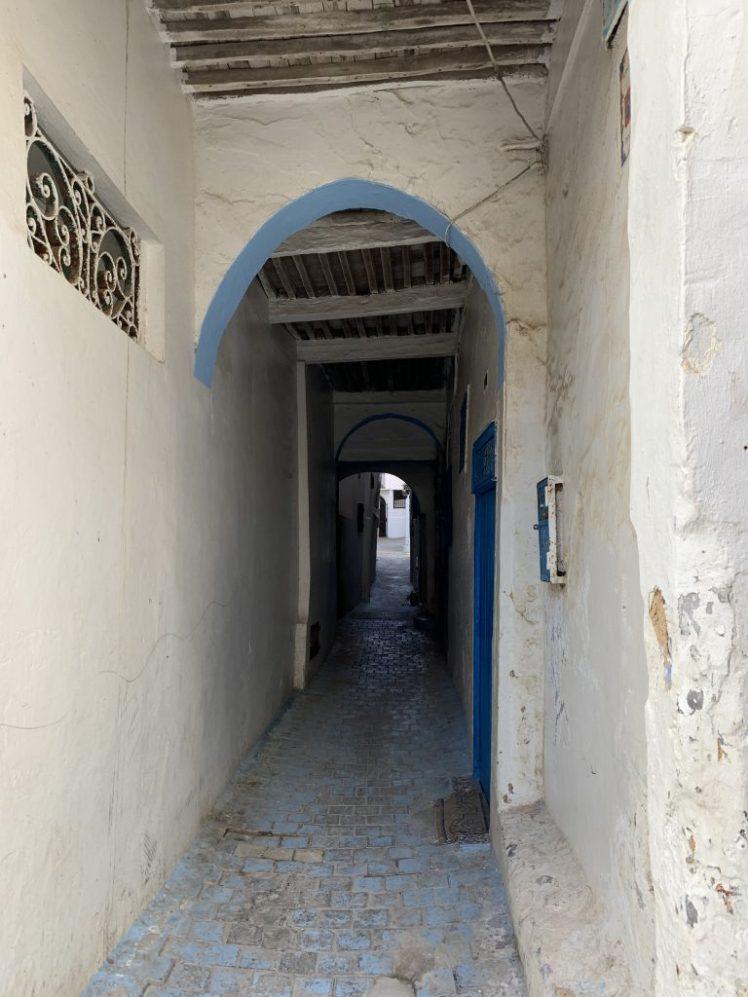 Narrow lanes of Medina in Tangier