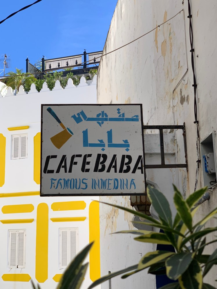 Cafe Baba in Tangier, Morocco