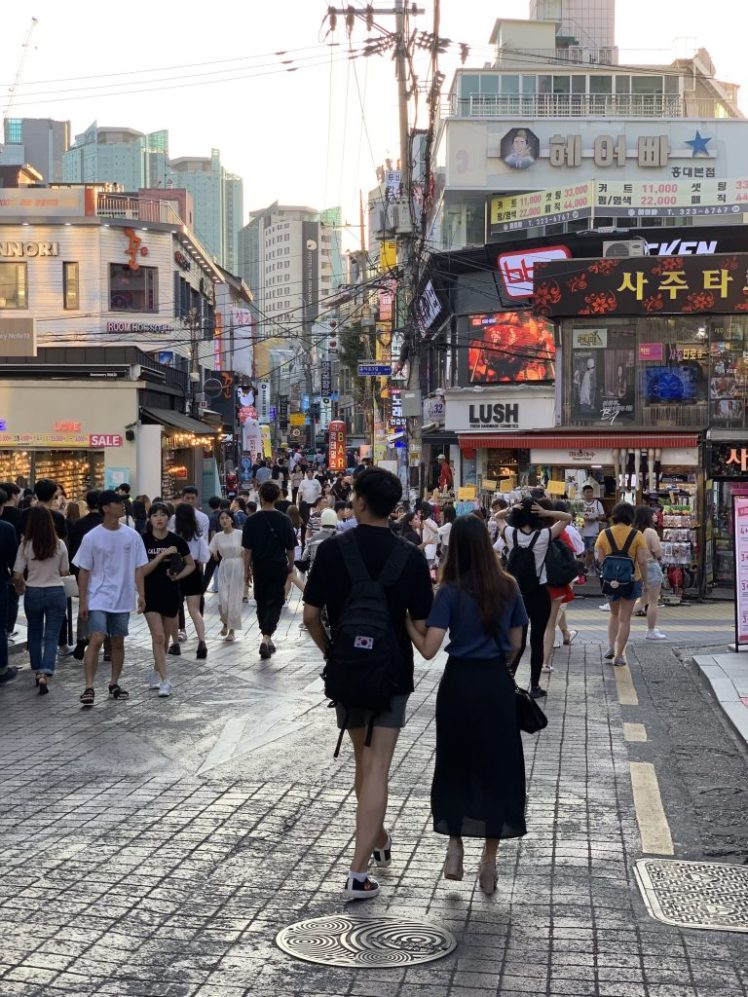 Hongdae area in Seoul