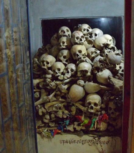 A memorial at the Killing Cave in Battambang