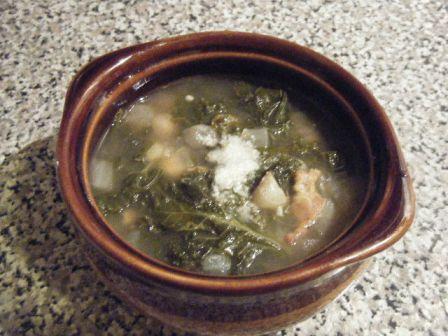 Kale Chickpea Bacon Soup