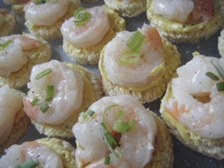 butter curry shrimp canape