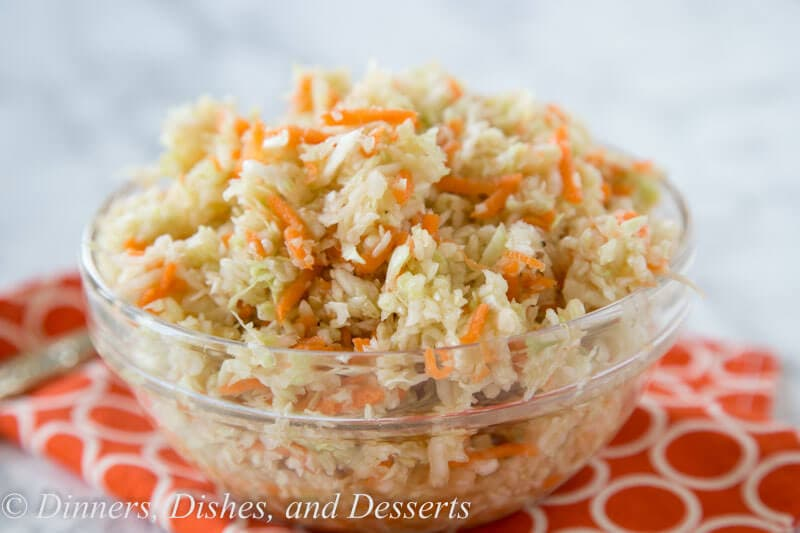 Summer Coleslaw - light and tangy no mayo coleslaw recipe that you can make all summer long!