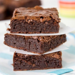 Fudgy Brownies - Rich and fudgy brownies made from scratch! Super easy you will ditch the box mix.