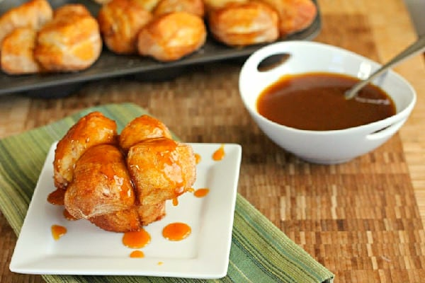 Pumpkin Caramel Monkey Bread Muffins {Dinners, Dishes, and Desserts}