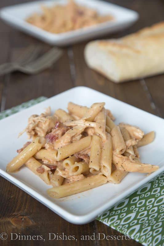 Smokey Garlic Chicken Pasta - a new weeknight favorite!