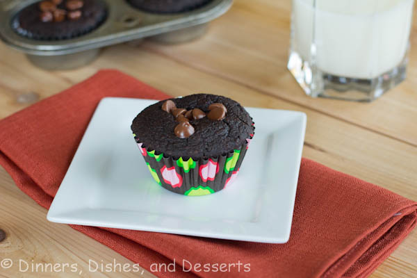Triple Chocolate Muffins - Rich, tender chocolate muffins that are secretly healthy for you! You can have your cake and eat it too!