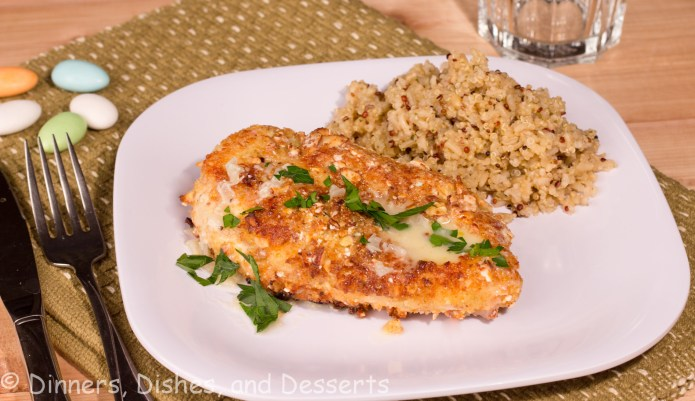 jordan almond crusted chicken on a plate