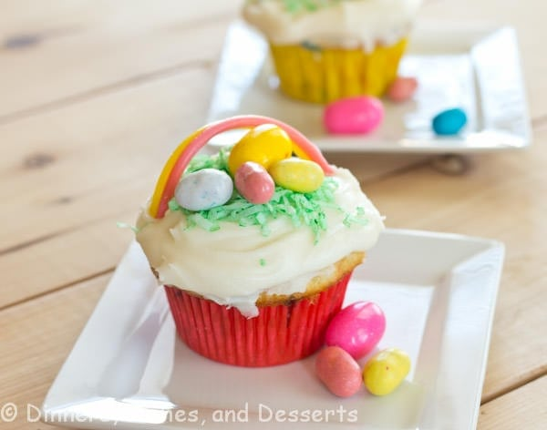 Easter Basket Cupcakes | Dinners, Dishes, and Desserts