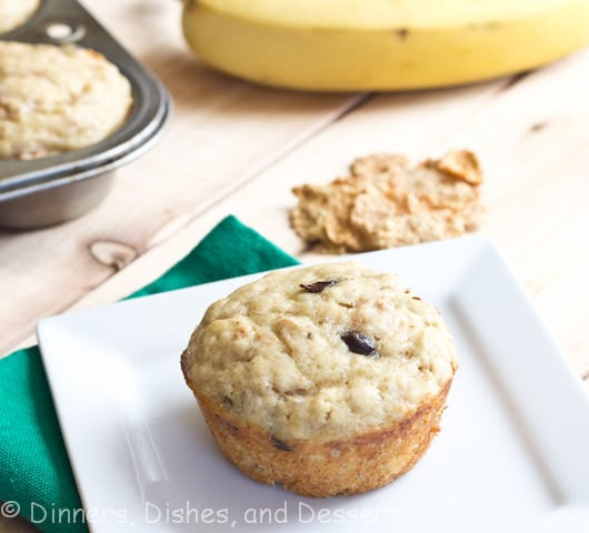 banana yogurt muffins on a plate