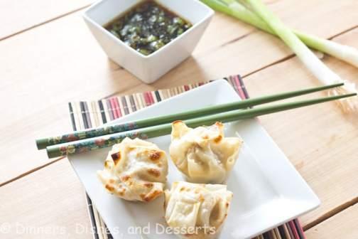 Asian Dumplings w/ Dipping Sauce