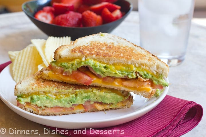 Bacon Avocado Grilled Cheese