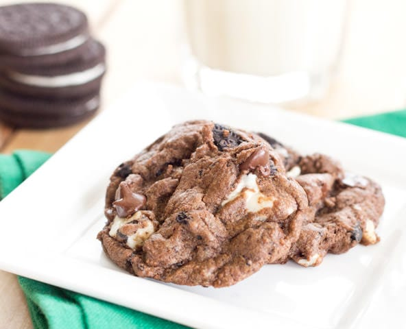 Chocolate Cookies n' Cream Chunk Cookies