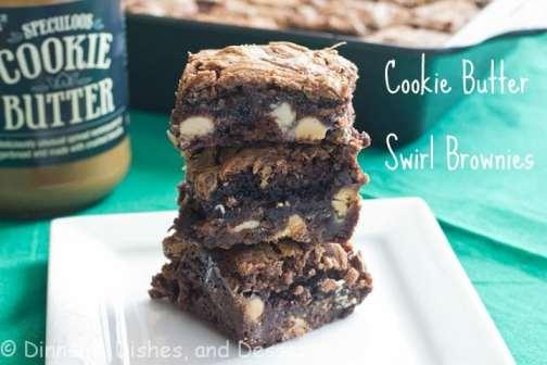 Cookie Butter Swirl Brownies