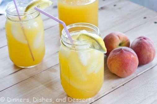 peach lemonade in a cup