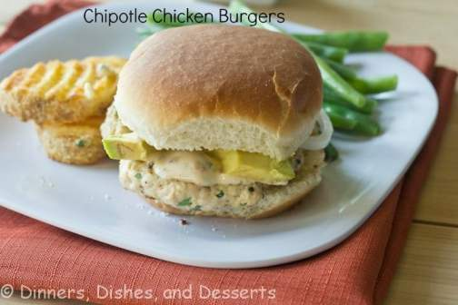 Chipotle Chicken Burgers