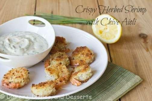 Crispy shrimp with Chive Aioli