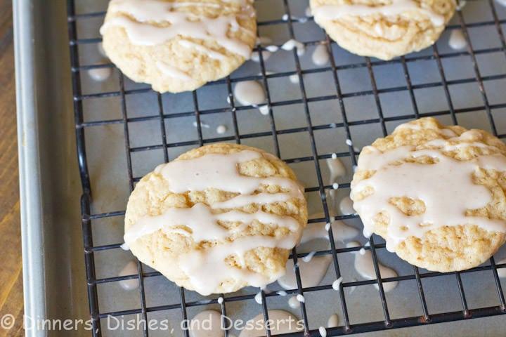 apple cider cookies on a table