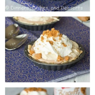 Biscoff Mousse Cream Pie - a creamy no bake dessert.