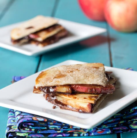 Nutella Apple Quesadilla