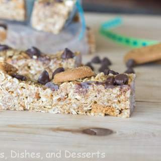 biscoff granola bars on a table