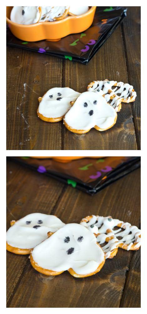 Ghost Pretzels - a fun little snack for Halloween