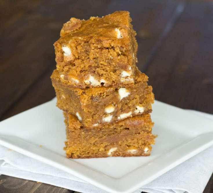 Pumpkin Biscoff Blodies {Dinners, Dishes, and Desserts}