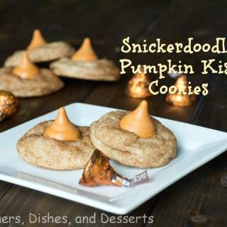 snickerdoodle pumpkin kiss cookes on a plate